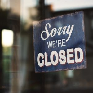 Closed sign stock